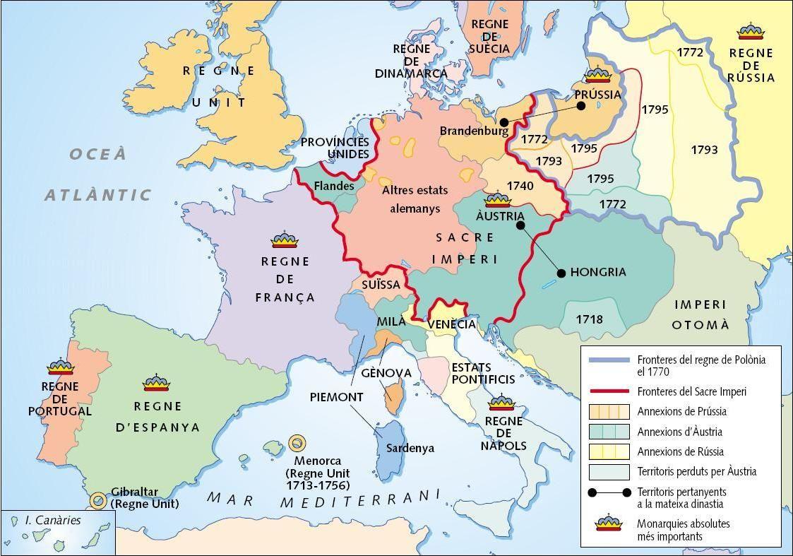 1750 Europa Jpg Historia De La Iglesia Siglo Xviii Mapa De Europa