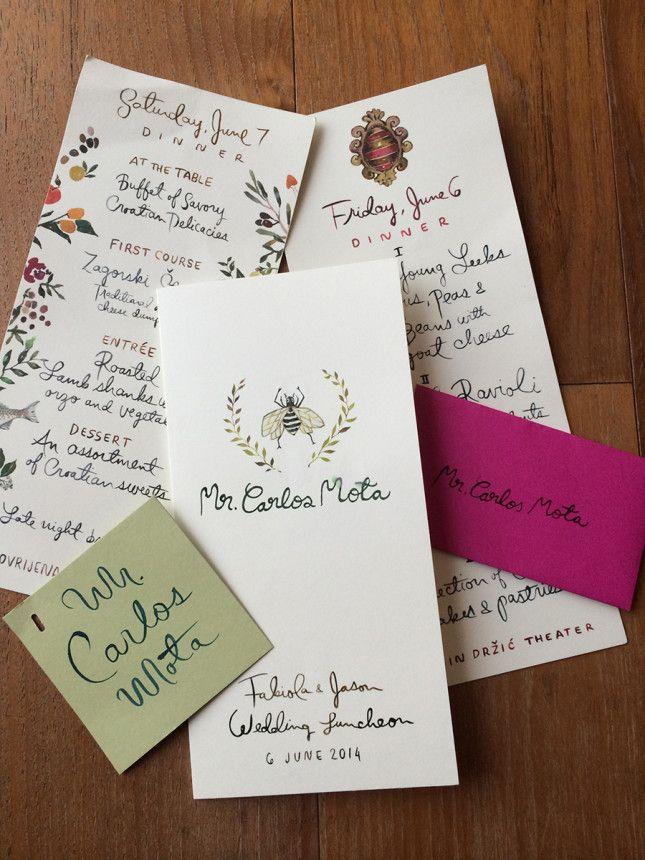 addressing wedding invitations married woman doctor%0A Happy Menocal Stationery for Fabiola Beracasa u    s Wedding on Vogue com