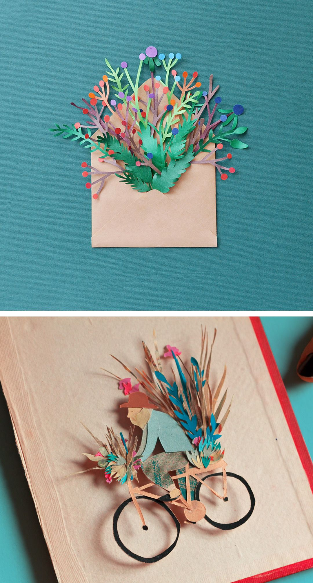 10 examples of cut paper illustration to put you in tune with nature paper illustration cut paper art paper craft cut paper flowers mightylinksfo