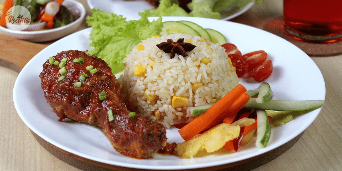 Nasi Jagung Manis Dengan Sambal Ayam Sweet Corn Rice With Chicken Sambal Recipes Food Rice
