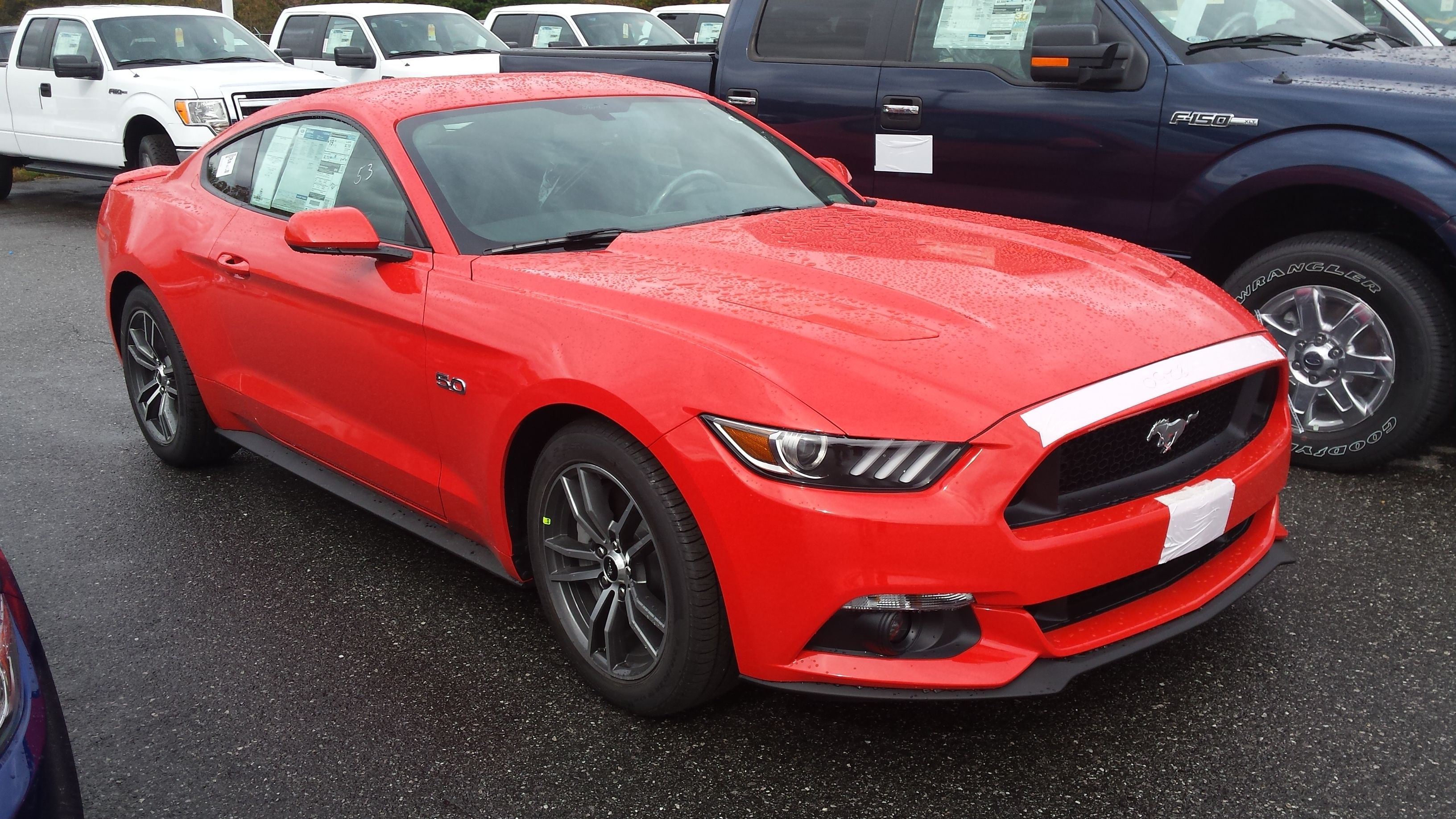 2015 Mustang GT in petition Orange even though it looks red in