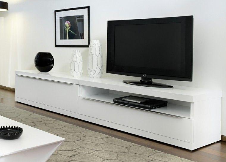 Muebles Para Tv 50 Propuestas Creativas Y Modernas Muebles Para Tv Muebles Para Televisores Muebles Salon Blanco