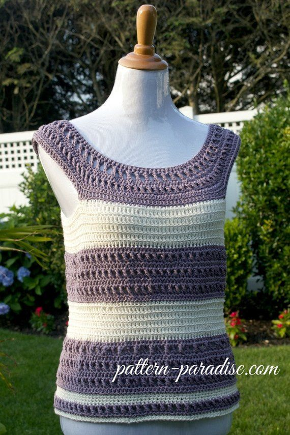 Crochet Pattern For Tank Top X Stitch Pdf 15 195 Instant Download