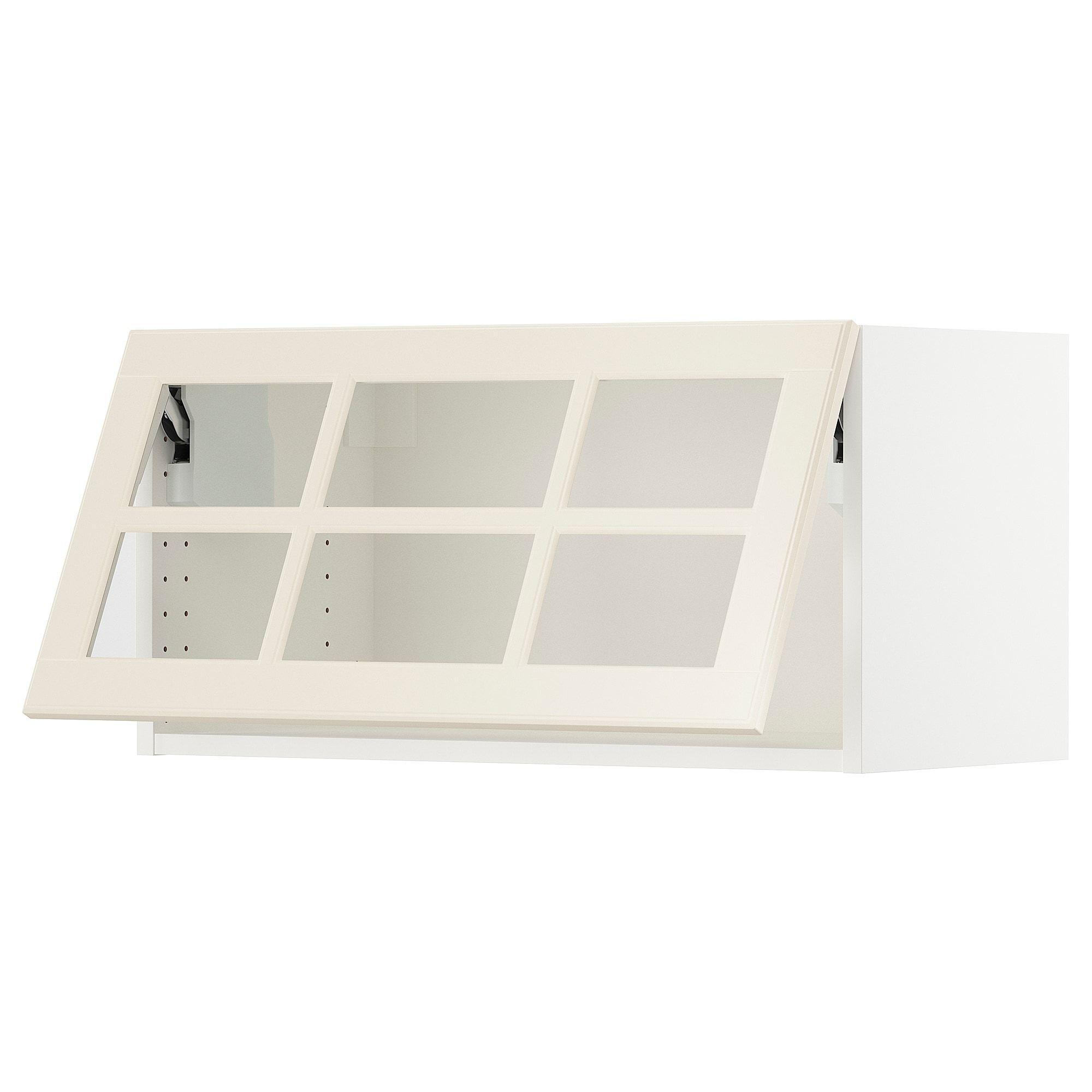 Epaisseur Caisson Cuisine Ikea sektion armoire murale horizontale vitrée - blanc, axstad