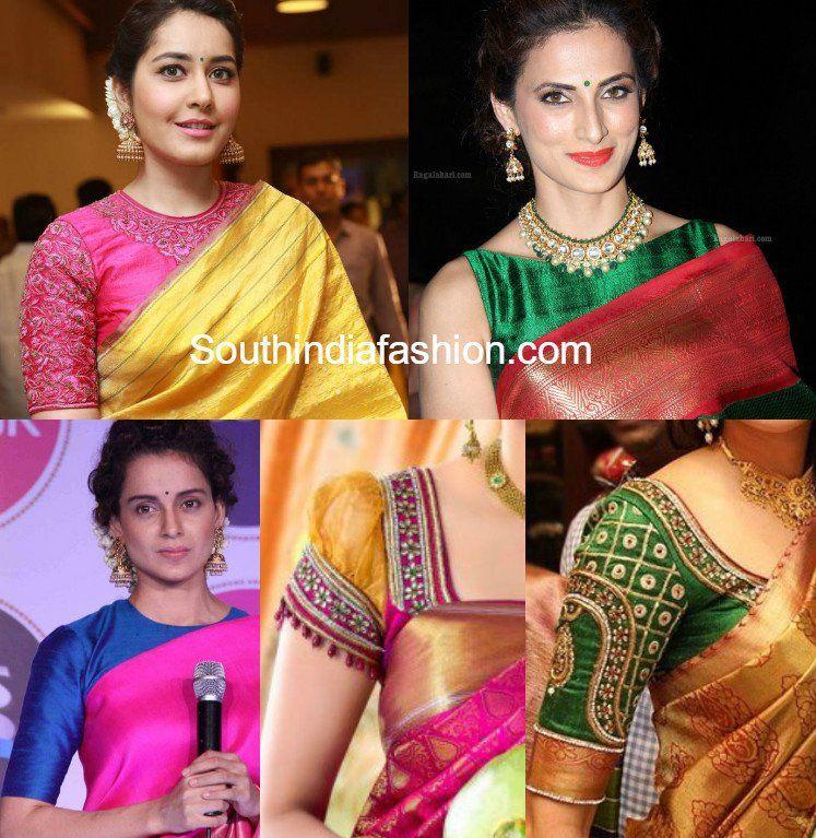 db1542549c37ef Must have Blouse Designs for Kanjeevaram Sarees
