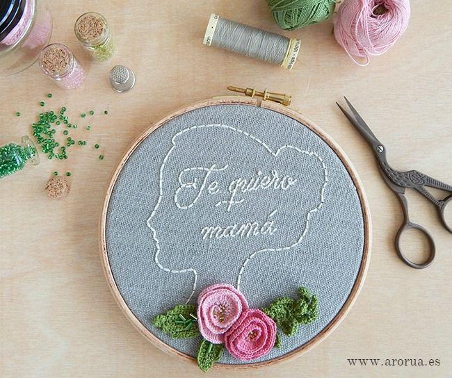 Art embroidery hoop mother 39 s day bastidor decorativo - Bastidores para bordar ...