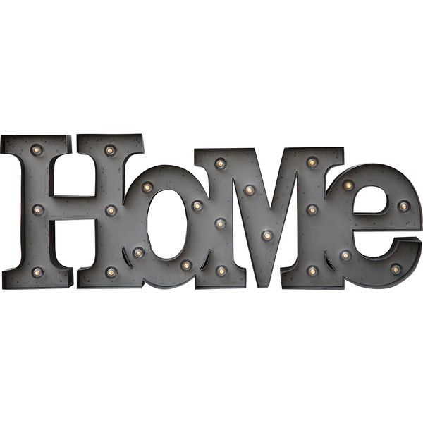 Dot & Bo Homey Marquee Sign (221.255 COP) ❤ liked on Polyvore featuring home, home decor, wall art, decor, words, text, quotes, phrase, saying and metal home decor