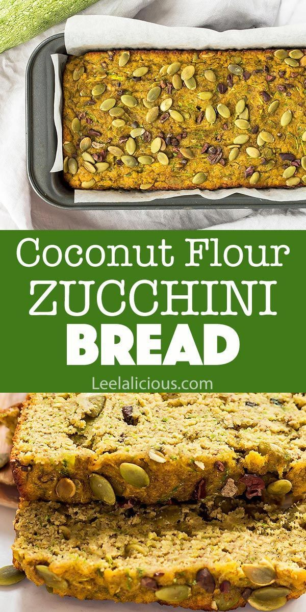 Use up your garden zucchini in this Coconut Flour Zucchini Bread This healthy quick bread loaf is so moist and delicious And it also happens to be gluten free paleo and c...
