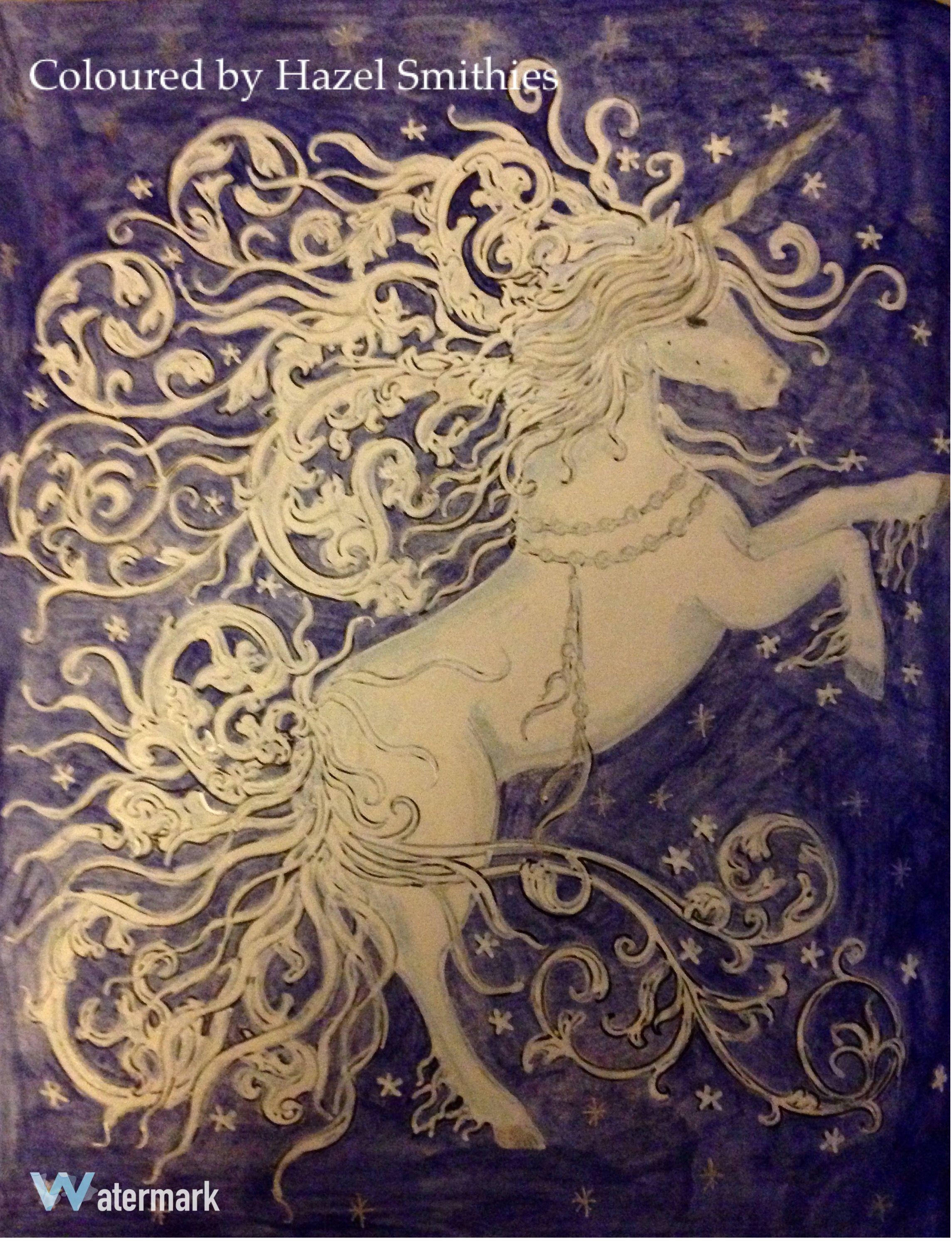 Unicorn From Dagdrommar By Hanna Karlzon In Inktense Pencil, Posca