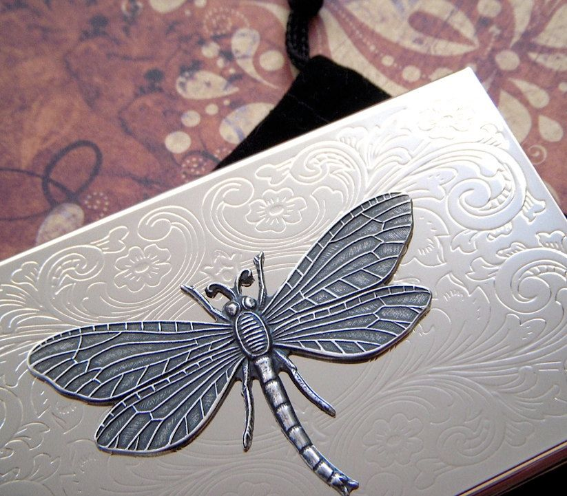 Lovely Dragonfly Business Card Holder Images - Business Card Ideas ...