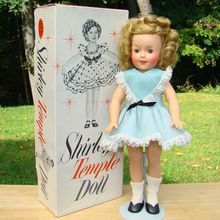 C1959 60 Ideal Shirley Temple Doll 12 Inch Vinyl Blue Dress Original Box Pristine Shirley Temple Vintage Dolls Shirley Temple Black