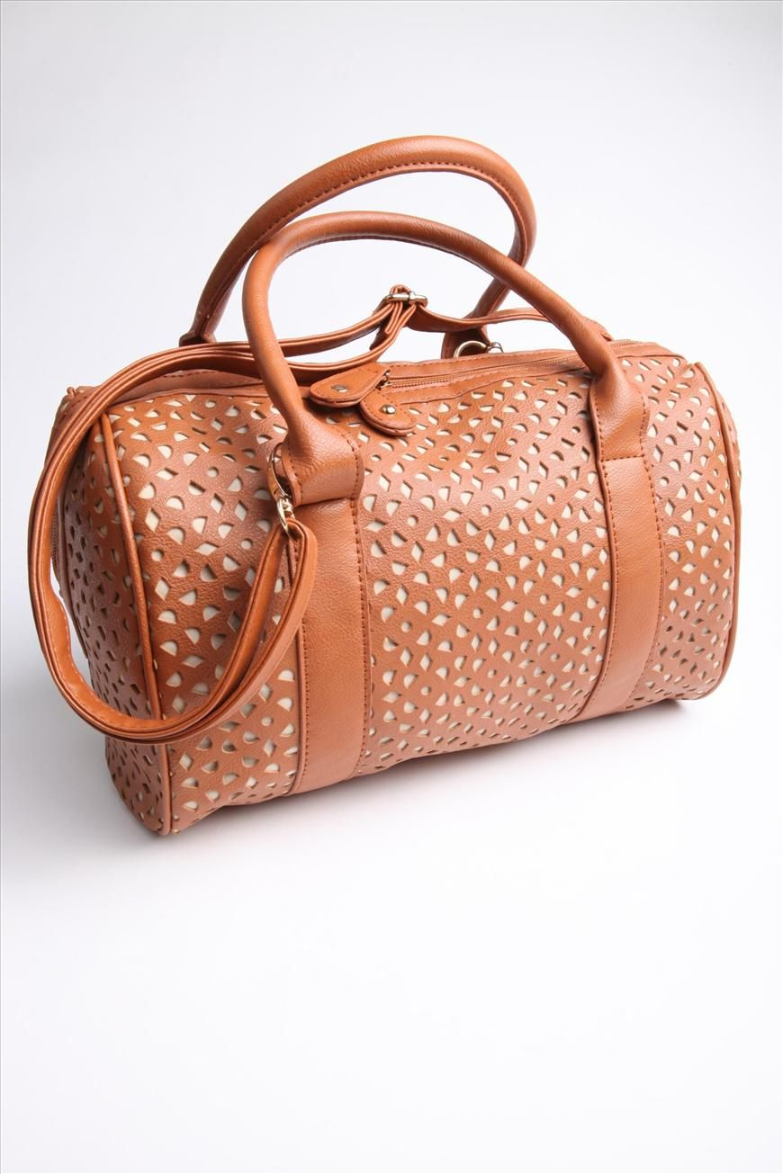 perforated barrel bag | Cotton On