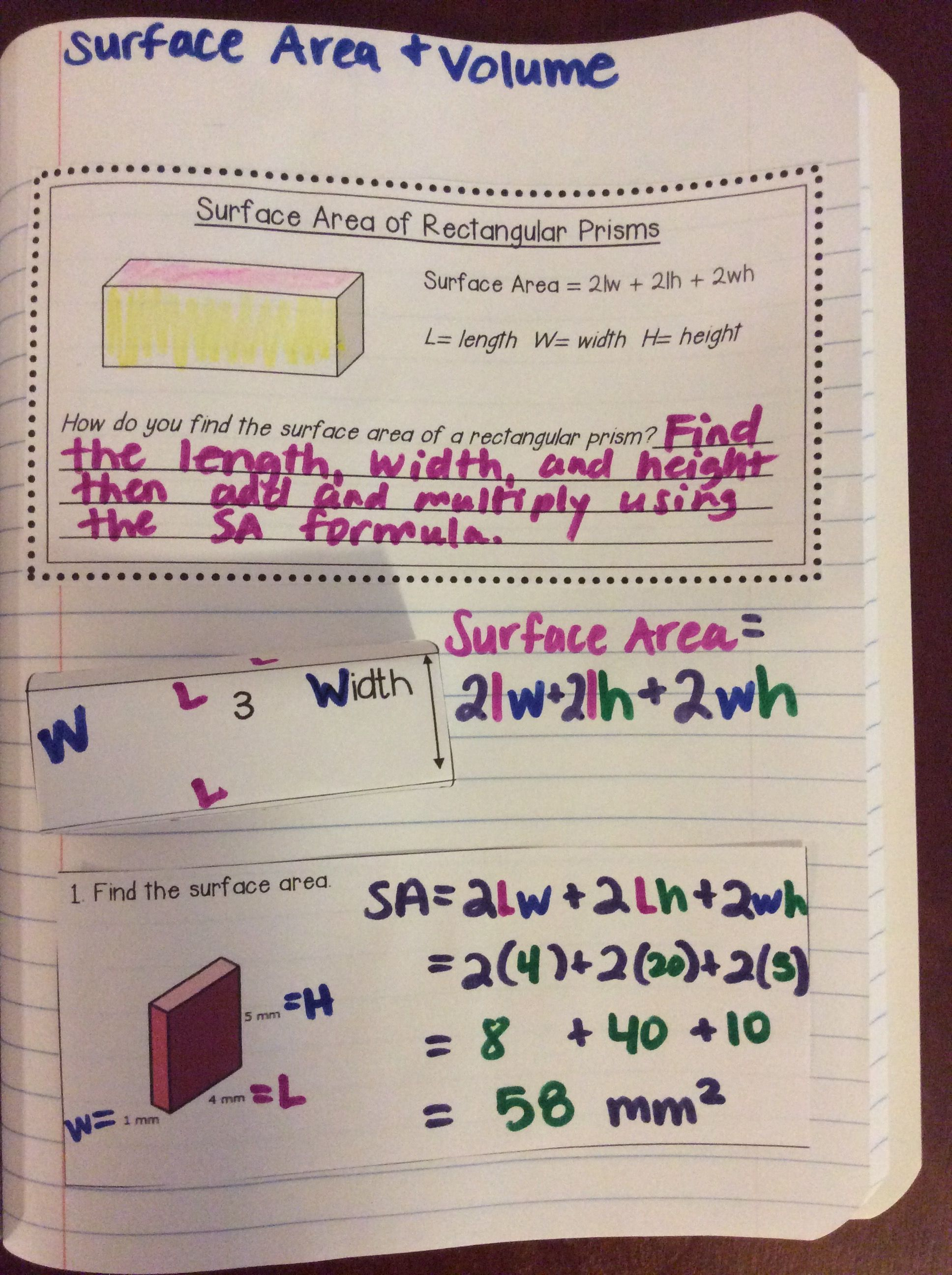 Surface Area And Volume Of Solids Activities