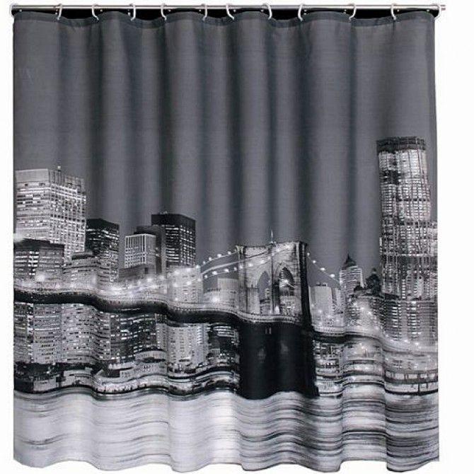 New York Brooklyn Bridge Shower Curtain Novelty Shower Curtains