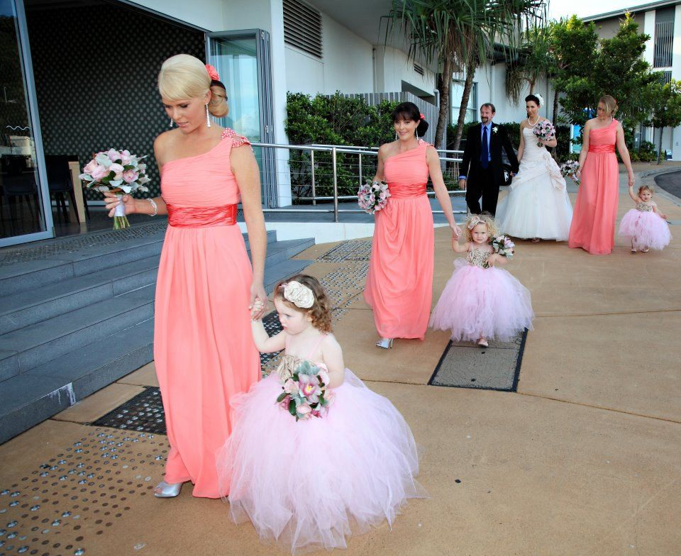 4427d621d flower girl tutu dress I just had a great idea each of my bridesmaids walks  with their daughter as our flower girls!