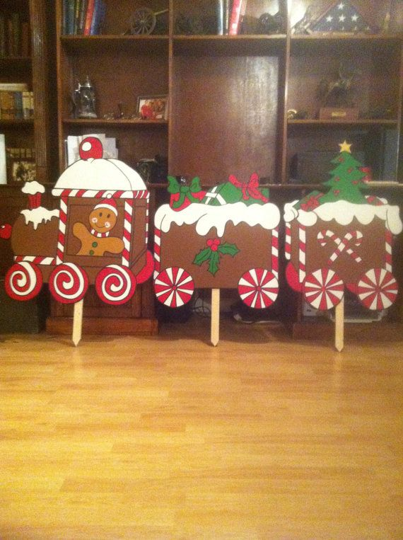 Gingerbread Train By Customsignsforyou On Etsy 60 00