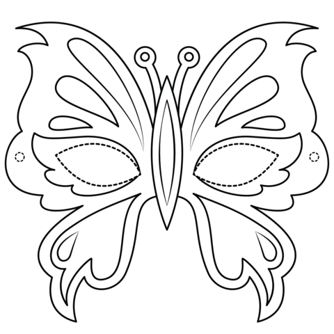 Butterfly Mask Coloring Page Butterfly Coloring Page Free Coloring Pages Valentines Day Coloring Page