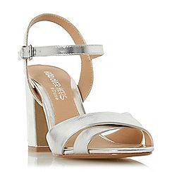 a354696f54b Head Over Heels by Dune - Silver  Missty  high block heel ankle strap  sandals