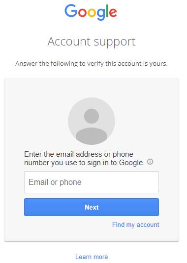 google-account-forgot-password