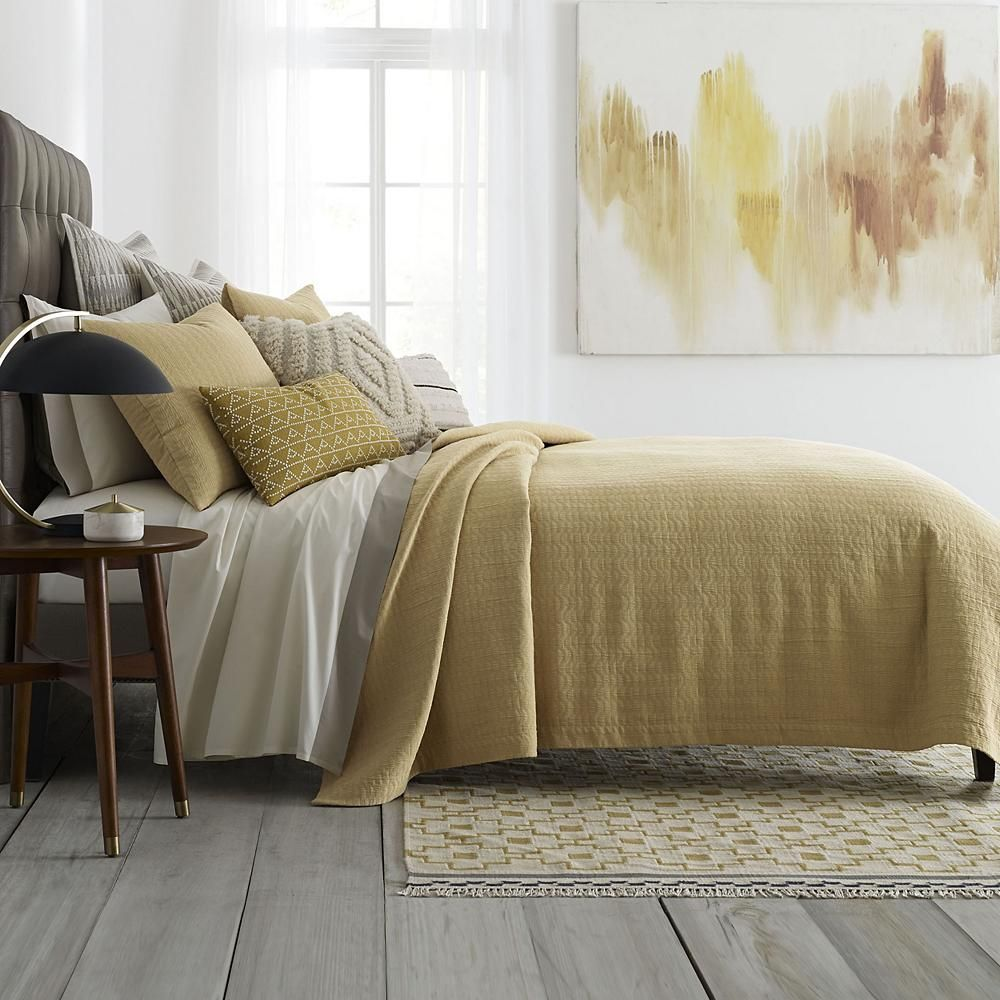 Enhance Your Sleep Space With Our Cosmina Bedding Collection From Dwellstudio An Alluring Saffron Toned Color Paire Bedding Collections Modern Bed Home Decor