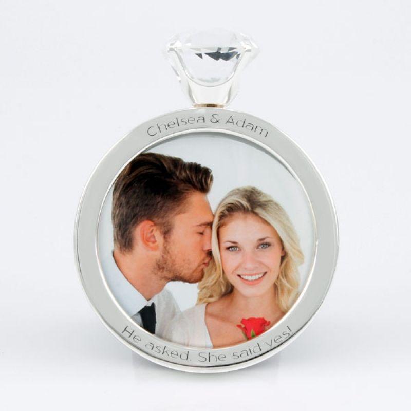 Perfecto Wedding Ring Picture Frame Motivo - Ideas Personalizadas de ...