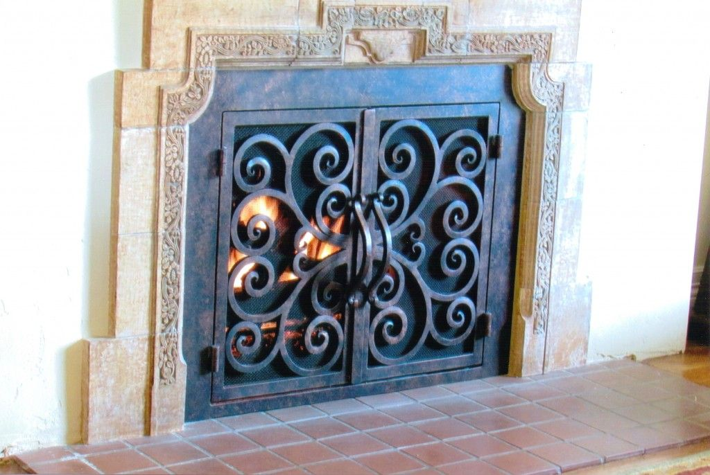 perfect fit metal a wooden screen vase with stones the glass measure medium art black how mantel flower accesories wall fireplace fireplaces doors to door of surround size