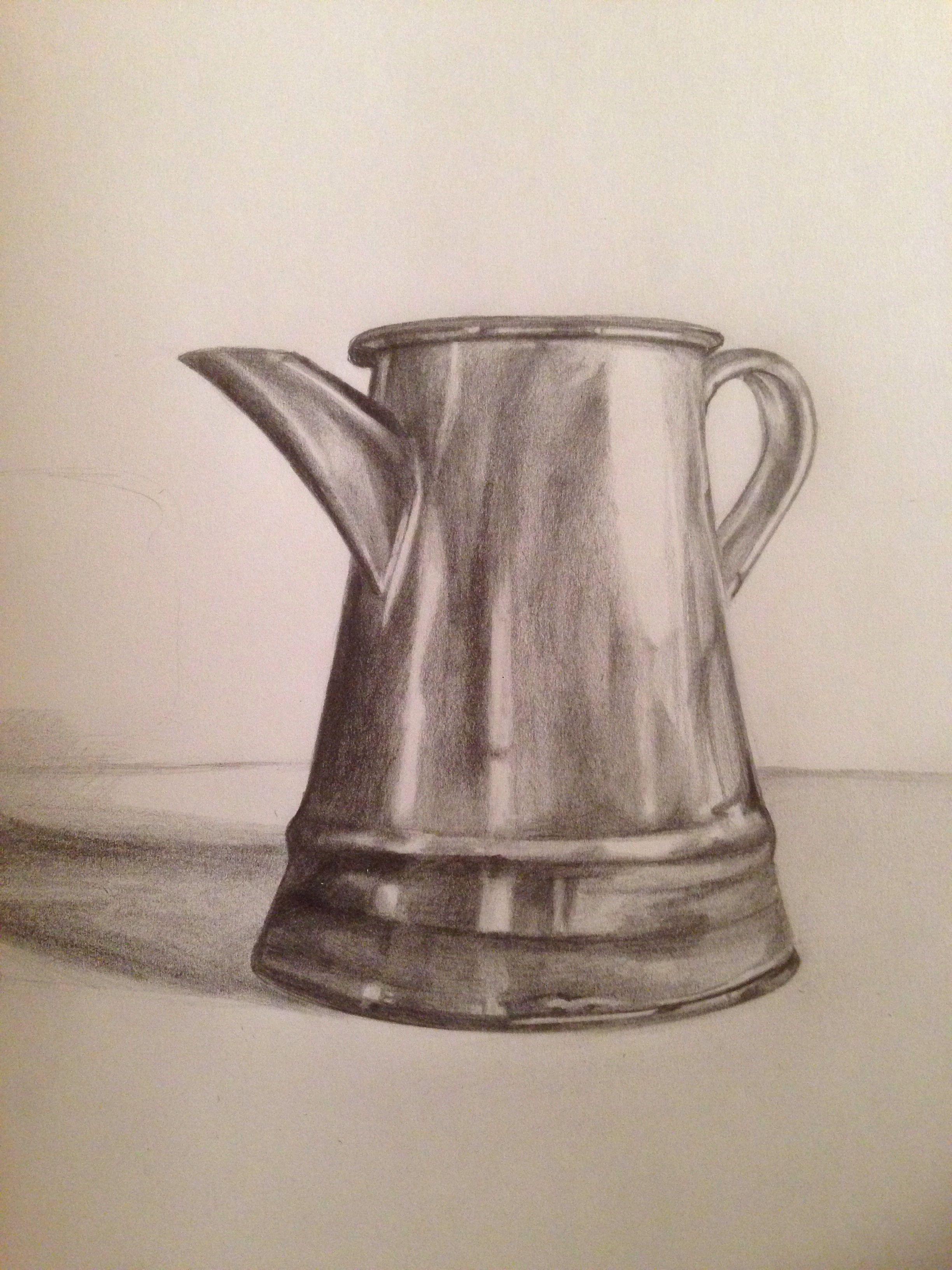 Tonal drawing jug form and shadows yr8 in 2019 drawings art decor