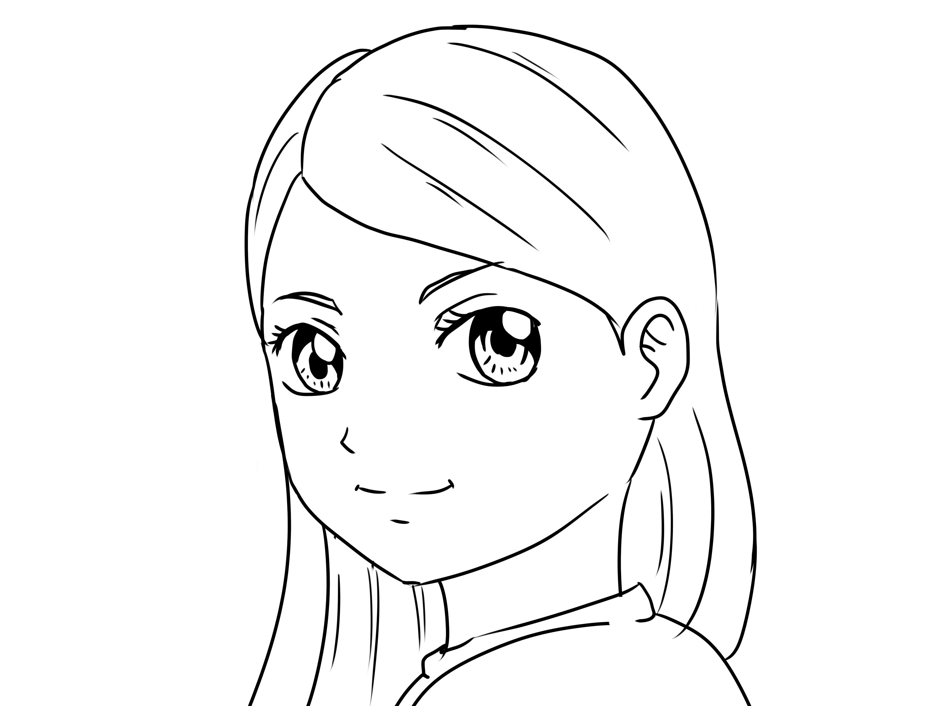 Draw Yourself As A Manga Person With Images Girl Drawing