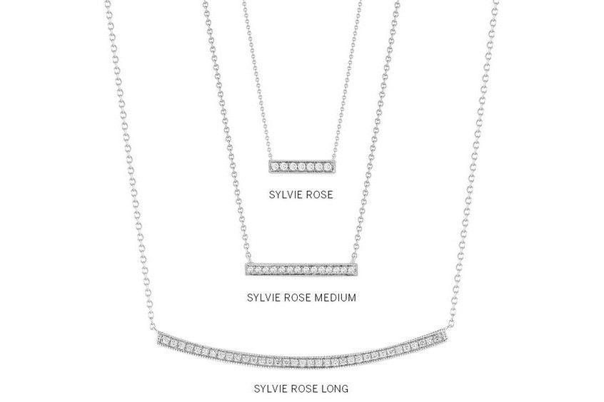 9382152cfcacb Dana Rebecca Designs - Sylvie Rose Medium Diamond Bar Pendant Necklace