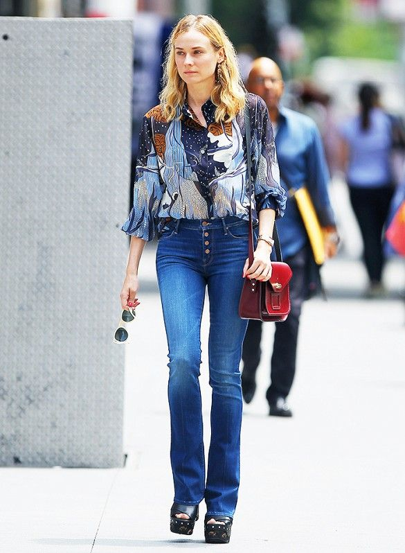 How to Wear Flare Jeans like Diane Kruger, Emma Roberts, and More ...