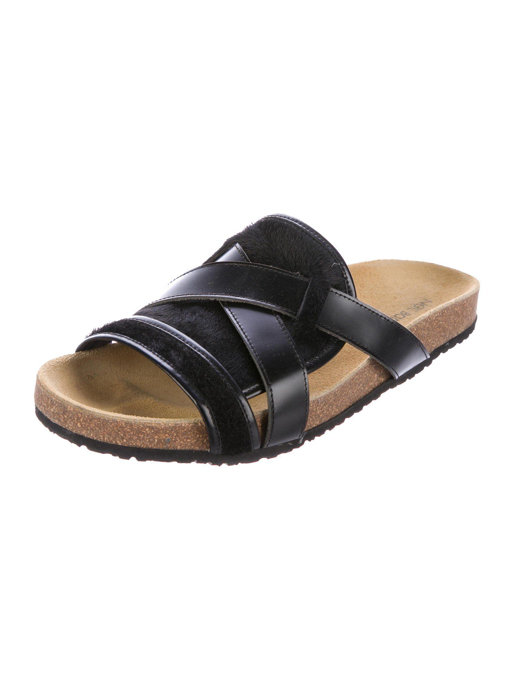 e8bdc9978af Ponyhair Slide Sandals w  Tags