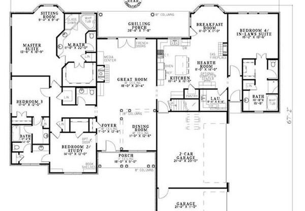 House plans with inlaw apartment separate home design for In law apartment plans