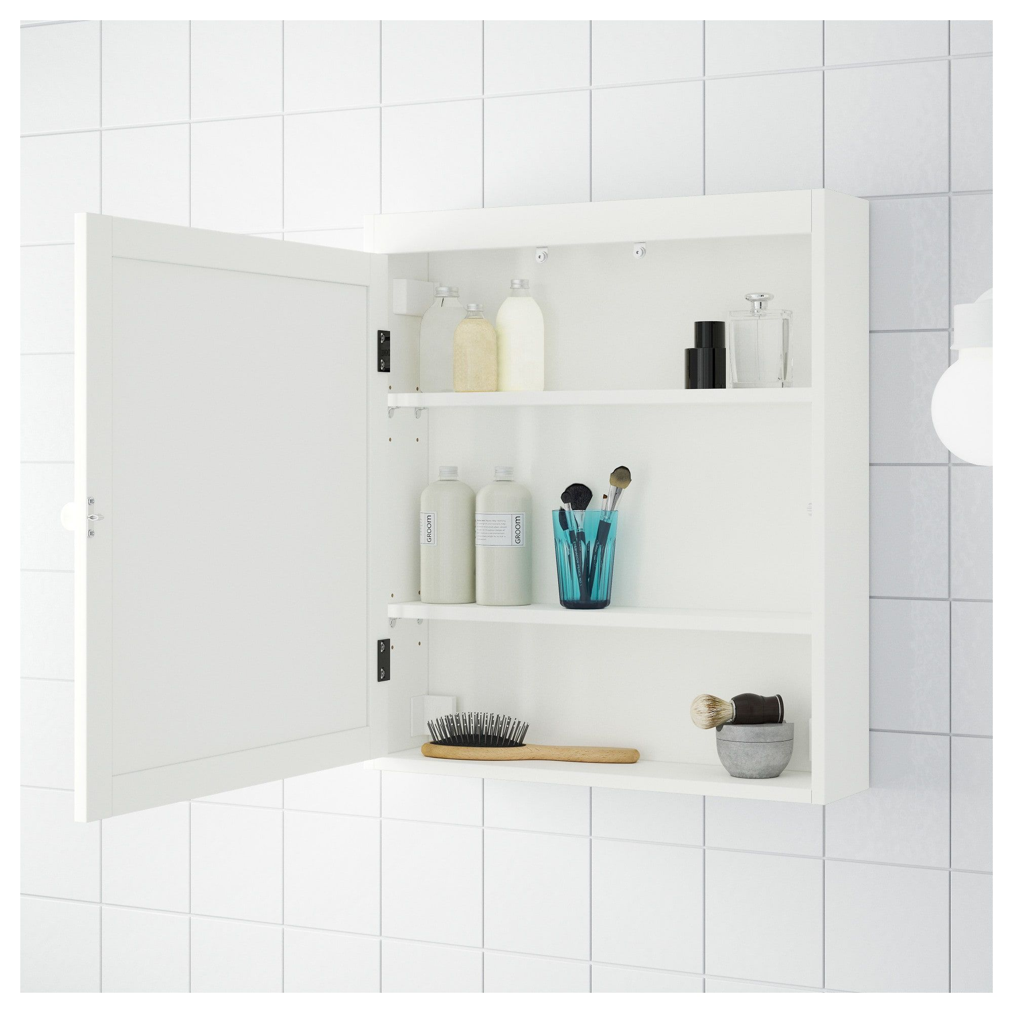 Silveran Mirror Cabinet White 23 5 8x5 1 2x26 7 8 Ikea Mirror Cabinets Bathroom Mirror Cabinet Ikea Silveran