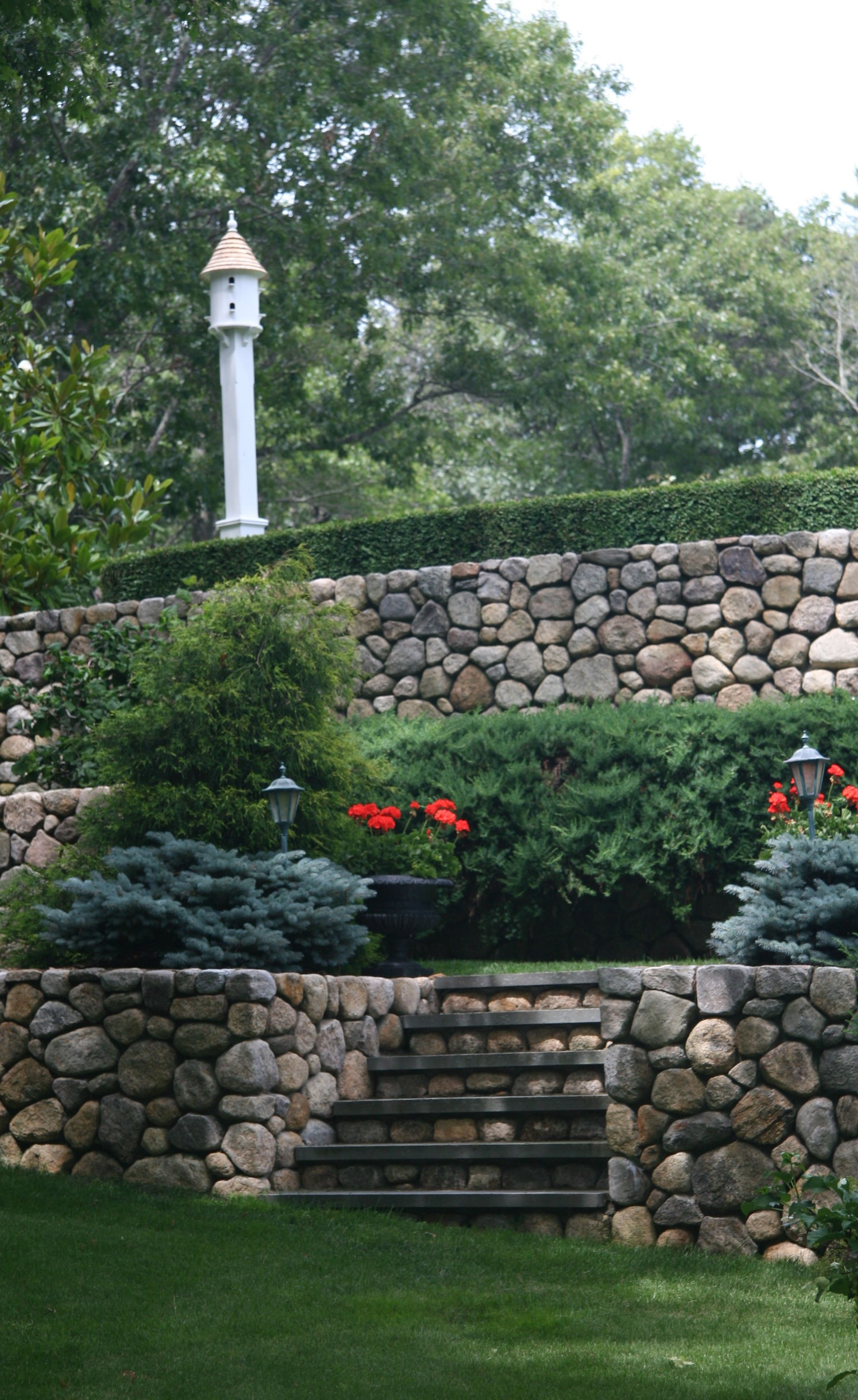 Lazy Hill Dove Cote As Focal Point Beautiful Stone Retaining Walls Stone Walls Garden Landscaping Retaining Walls Stone Retaining Wall