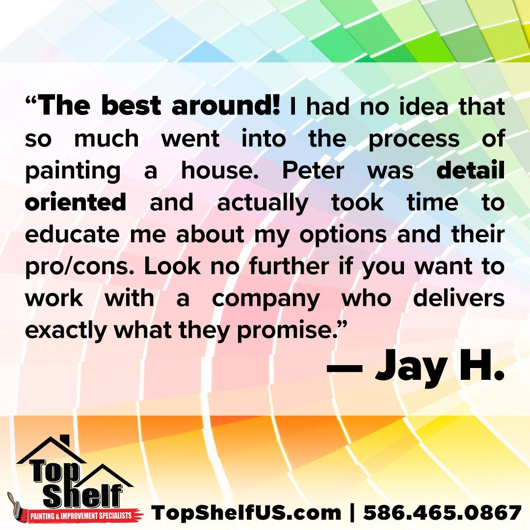 Testimonialtuesday Topshelf Review Painting Testimonials Painting Education