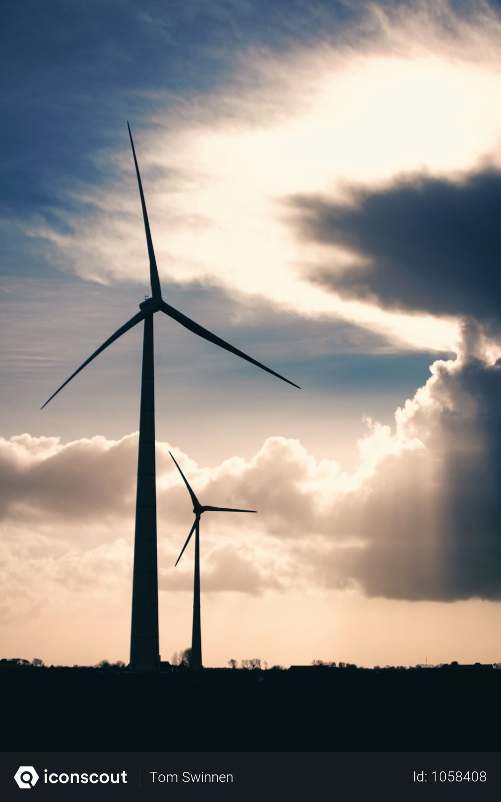 Free Silhouette Photo Of Two Wind Mills During Golden Hour Photo Download In Png Jpg Format Renewable Sources Of Energy Wind Turbine Sustainable Energy