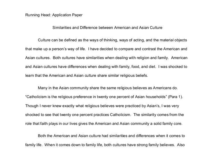 Similaritie And Difference Between American Asian Culture A Level Sociology Marked By Teacher Co Essay Writing Differences On
