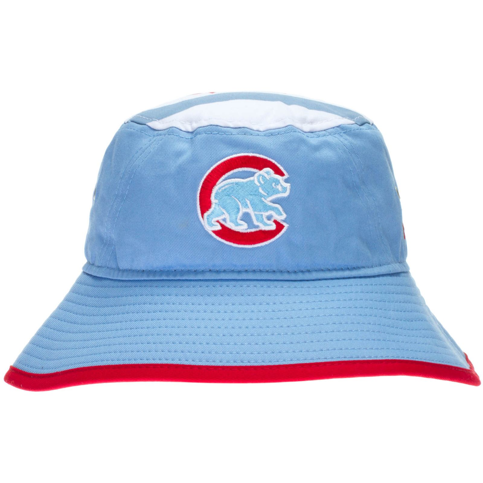 fc440c11d9e Chicago Cubs Chicago Flag-Themed Crawl Bear Logo Bucket Hat by New Era   Chicago  ChicagoCubs  ChicagoFlag  Cubs