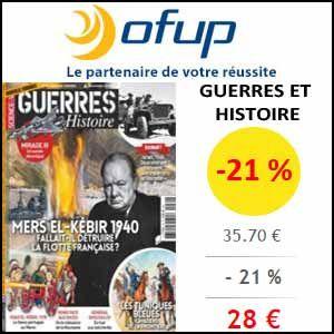 #missbonreduction; Réduction de 21 % sur l'abonnement au magazine Guerres et Histoire chez Ofup.http://www.miss-bon-reduction.fr//details-bon-reduction-Ofup-i349-c1833013.html