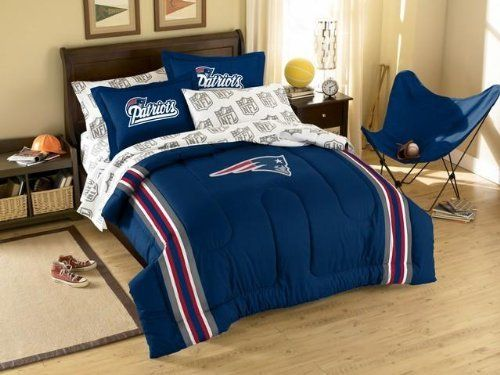 New England Patriots Twin Comforter And Shams Set By Northwest
