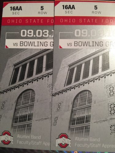 Tickets 2 Ohio State Vs Bowling Green Football Tickets 16aa Row 5