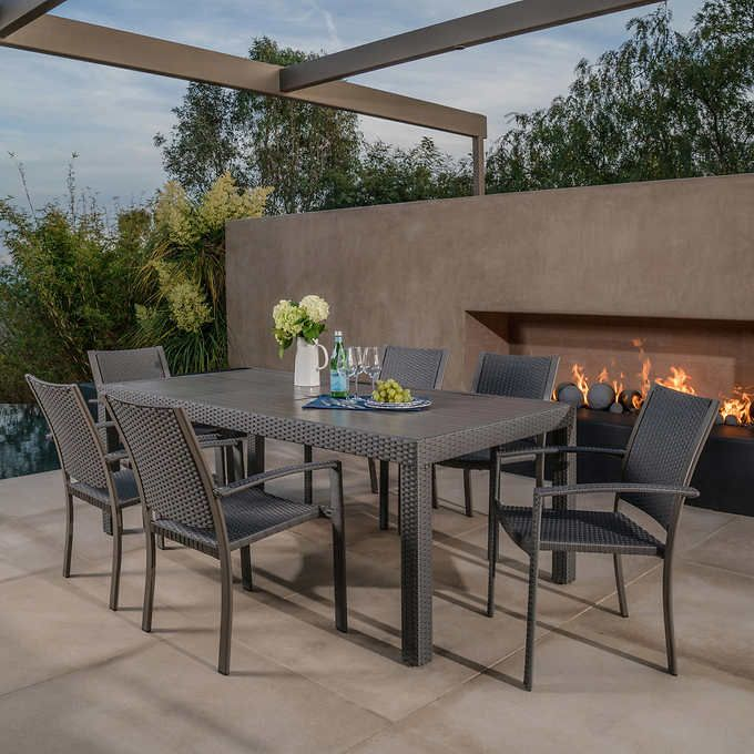 Silverlake 7 Piece Dining Set By Mission Hills Outdoor