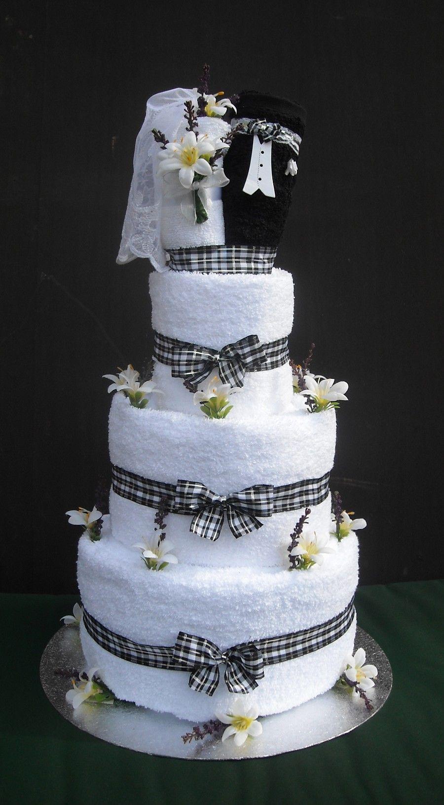 Wedding Towel Cake Bride And Groom Wedding Towel Cake With