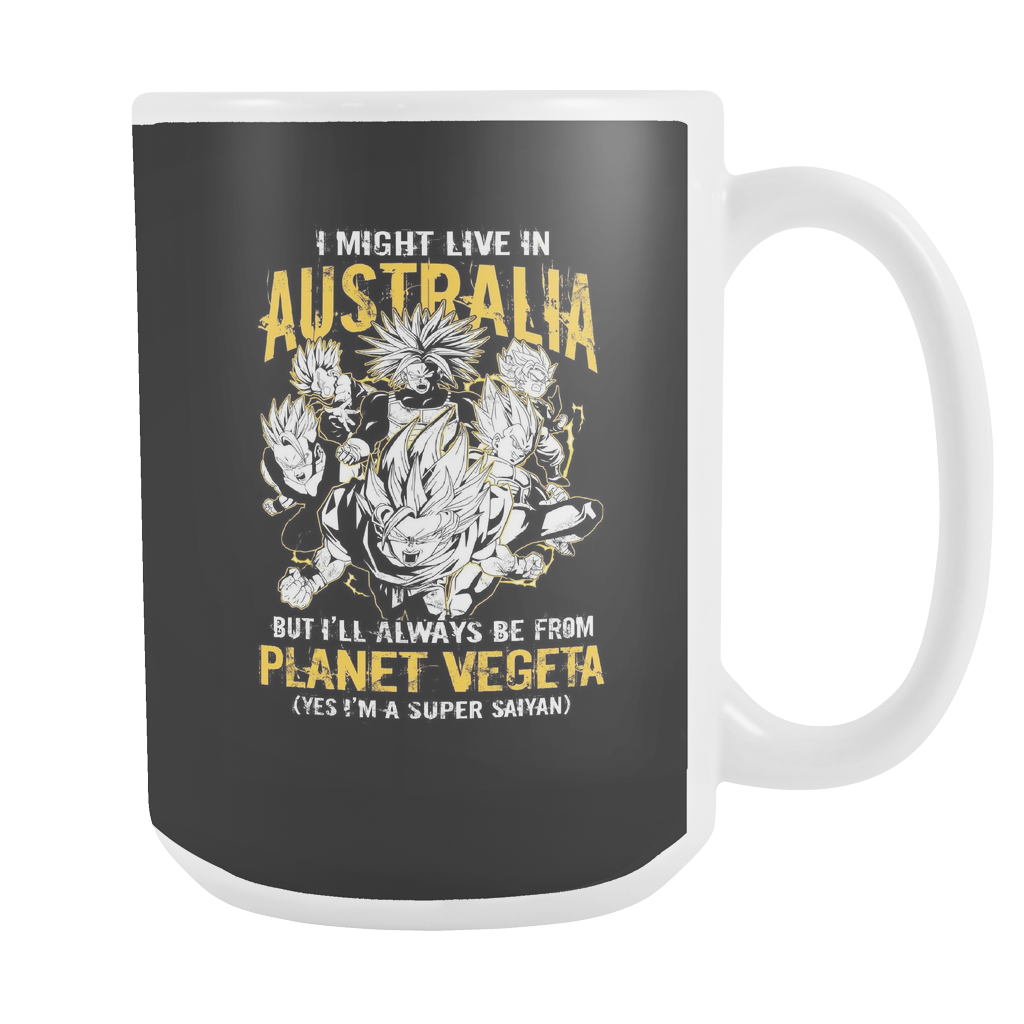 Super Saiyan I May Live In Australia 15oz Coffee Mug