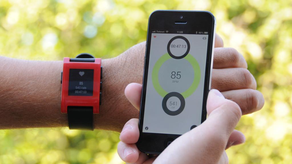 Pebble working with Heartbeats Smart watch, Wearable