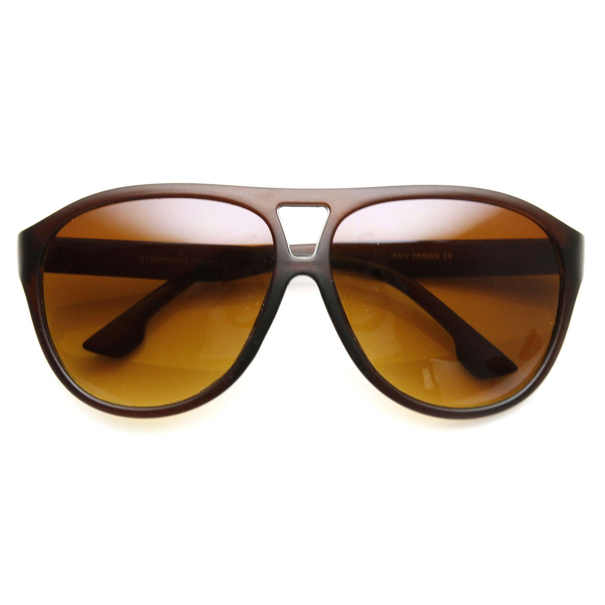 Retro Modern Oversize Fashion Aviator Sunglasses 9390 | zeroUV