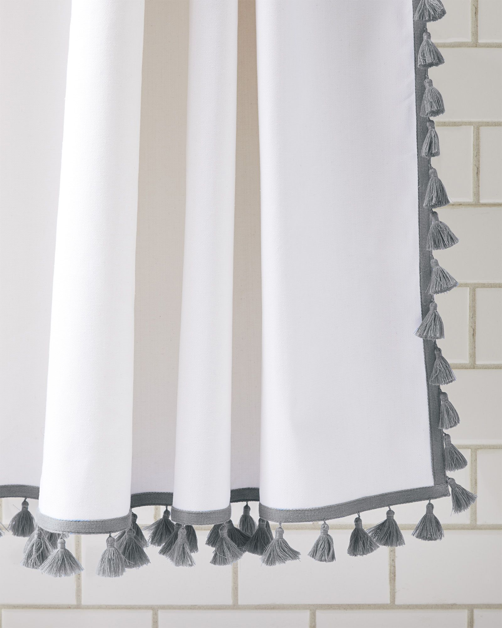 French Tassel Shower Curtain Unique Shower Curtain Curtains