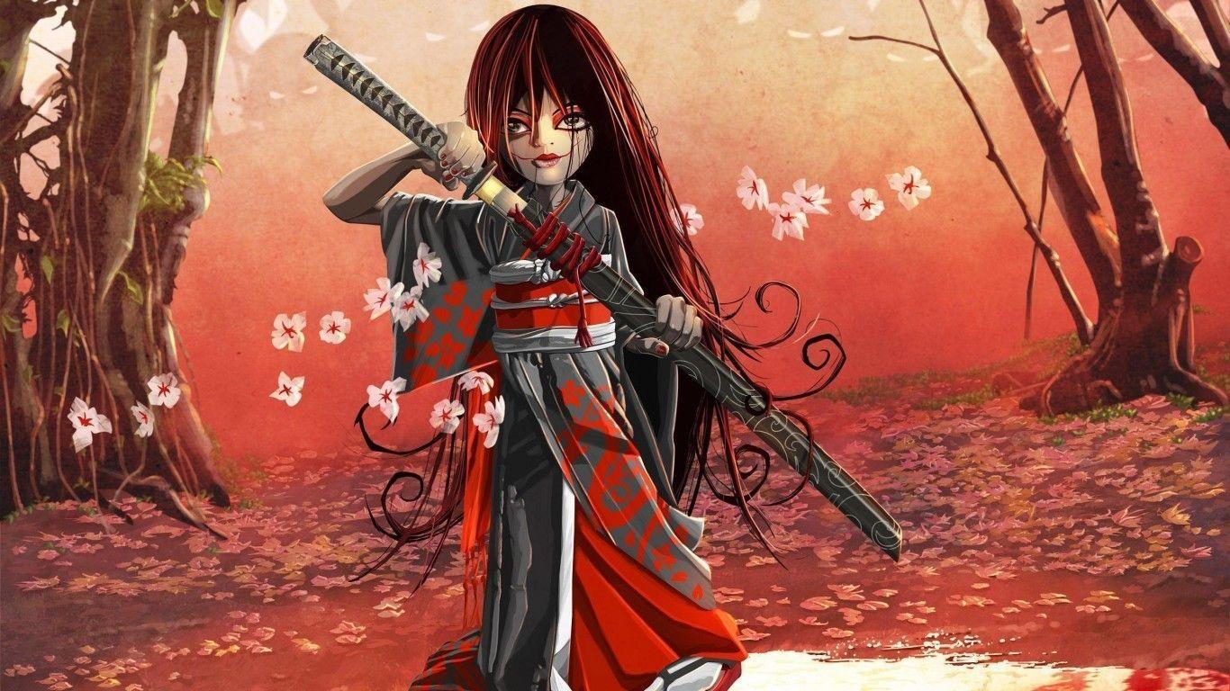 Samurai woman hd wallpaper Samurai wallpaper, Female