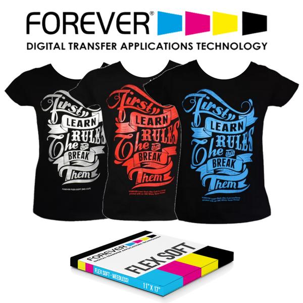 Forever Flex Soft No Cut Laser Heat Transfer Paper Heat Press