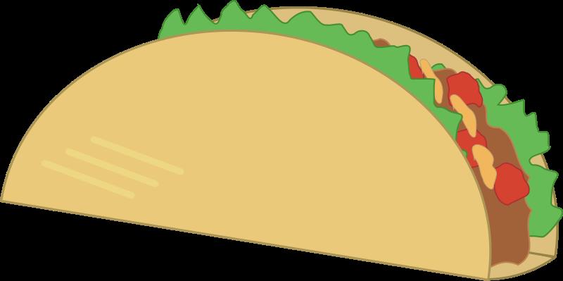 Simple Taco Openclipart Easy Taco Tacos Hard Shell Tacos